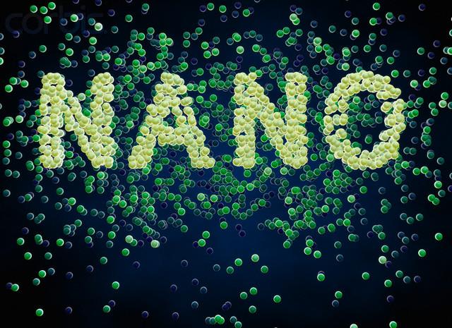 Particles Forming Word 'Nano'