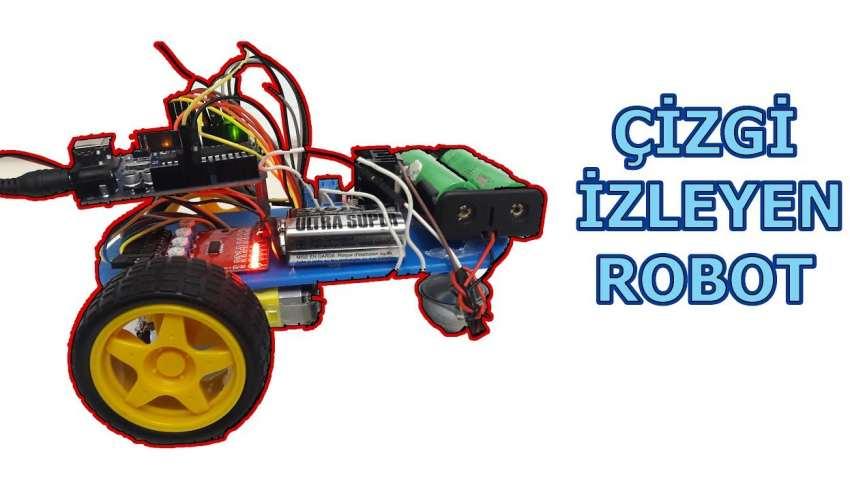 Arduino ile Çizgi İzleyen robot yapımı roboturka