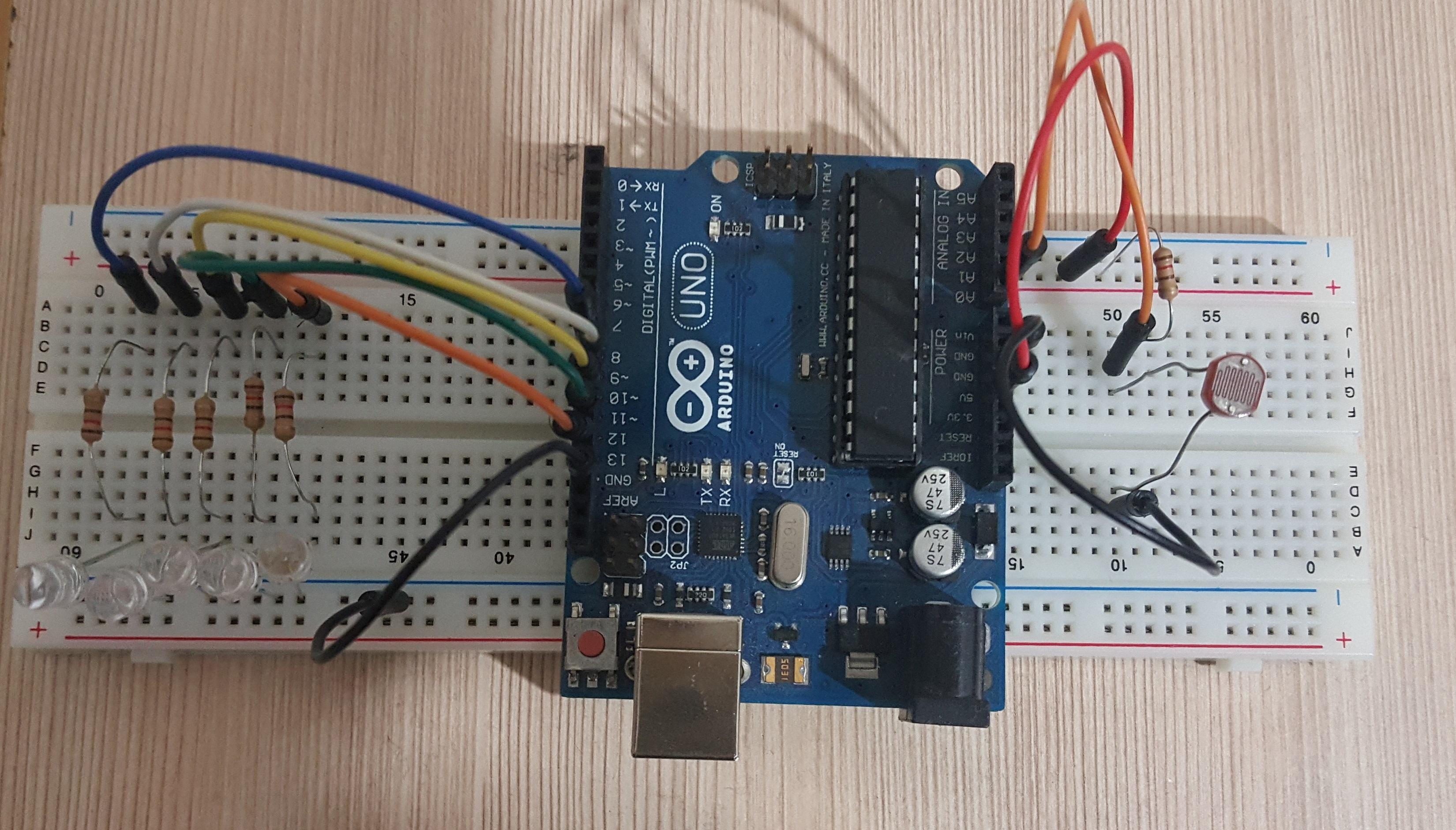 Arduino ile ldr uygulaması roboturka