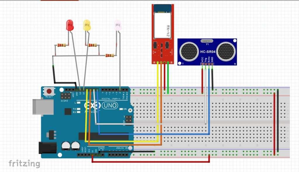hc-05 BT modül ve HC-04 ultrasonik mesae sensörü